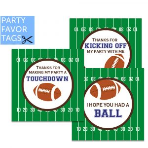 Football Favor Tags - Instant Download