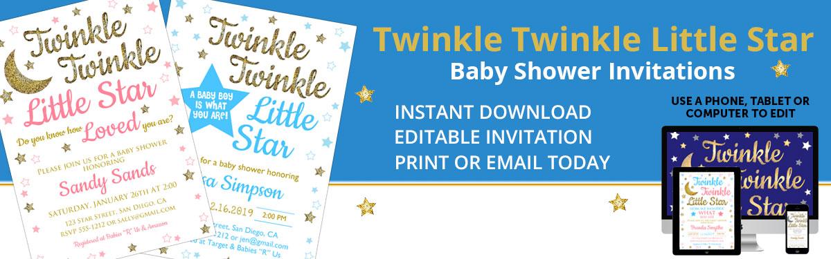 Twinkle Little Star Invitations