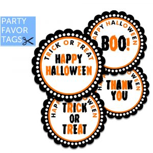 halloween favor tag