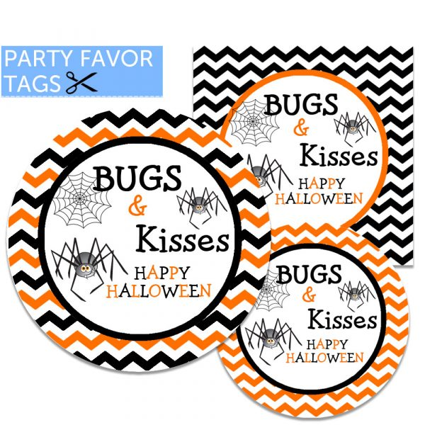 Halloween Tags - Bugs and Kisses