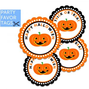 halloween party favor tags