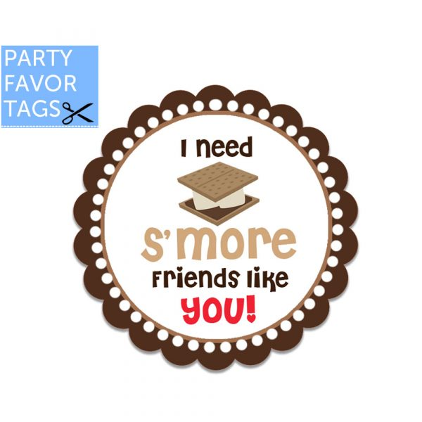 Smore friends tags - Download Favor Tags