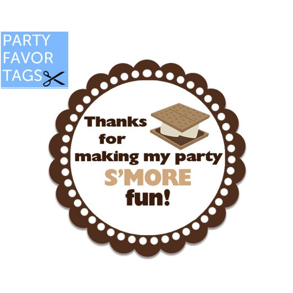 Smore fun tags - Download Favor Tags