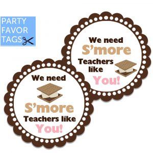 Smore teachers tags - Download Favor Tags