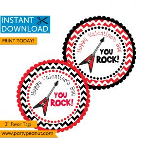 Valentines Day favor tags - You Rock
