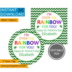 Over the Rainbow St Patrick's Day Tags