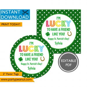 Lucky Friend St Patrick's Day Tags