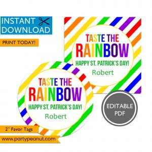 Taste the Rainbow St Patrick's Day Tags