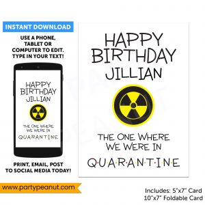 Quarantine Birthday Card Editable