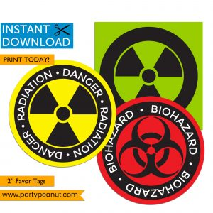 Quarantine Tags - Radioactive Biohazard Tags