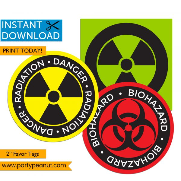 Quarantine Tags - Radioactive Biohazard Tags