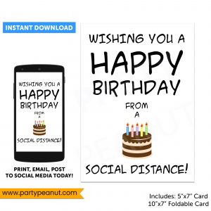 Social Distance Birthday Card