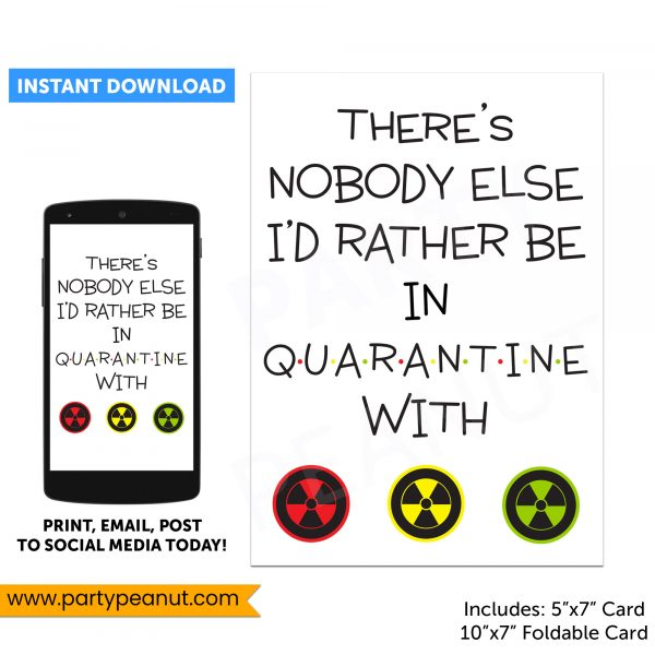 Quarantine Card Friendship Card
