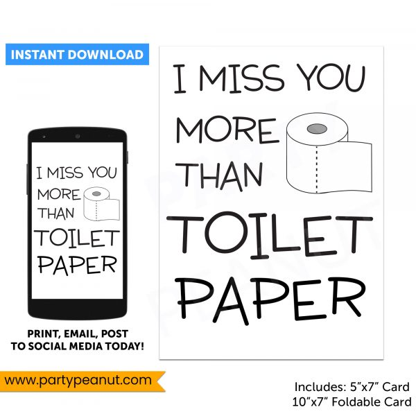 Quarantine Card Toilet Paper Friendship Card