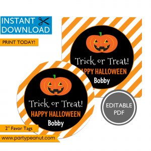 Trick or Treat Halloween Favor Tags