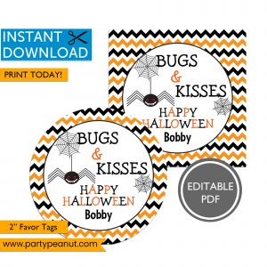 Bugs & Kisses Happy Halloween Tags