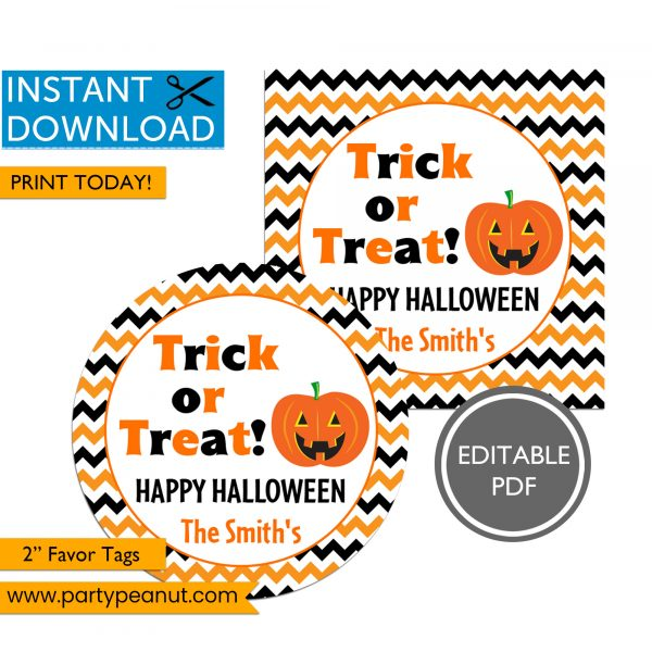 Trick or Treat Halloween Tags