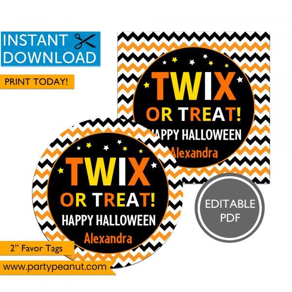 Twix or Treat Halloween Tags