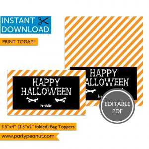 Bones Happy Halloween Bag Toppers