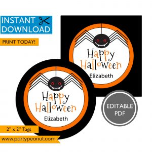 Printable Halloween Tags Halloween Spider
