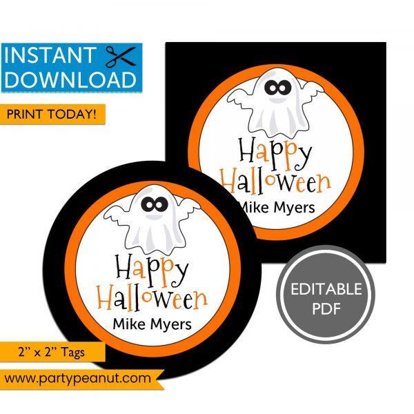 Printable Ghost Halloween Tags