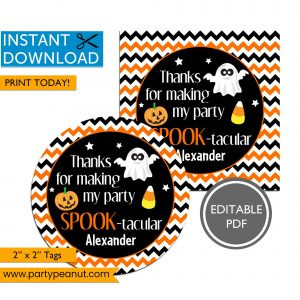 Spooktacular Halloween Tags Printable Stickers